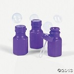 Mini Purple Hexagon Bubble Bottles